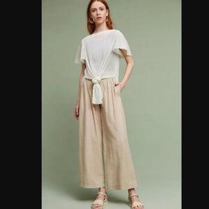 Akemi Kin Knotted Sarah Ivory Tunic Dress Top Slit